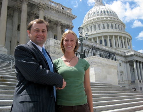 Congressman Tom Perriello and Erica Stowe at the Capital