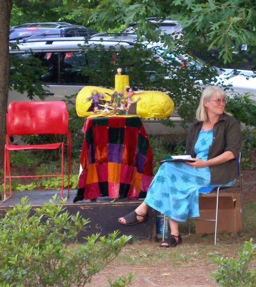 Charlotte Zinsser-Booth and the yellow submarine