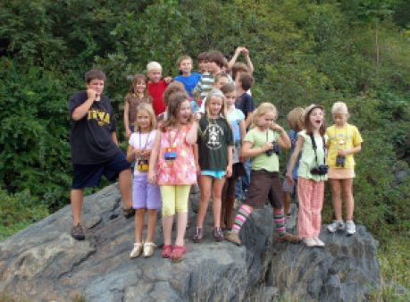 Juniors on a giant rock!