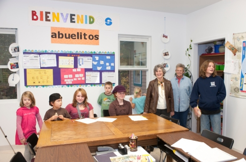 Taking a tour of the new Spanish classroom