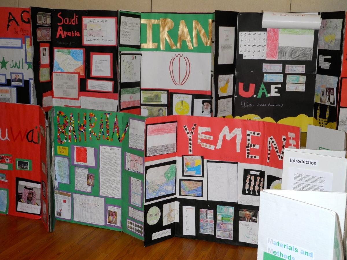 Seniors researched the Middle East