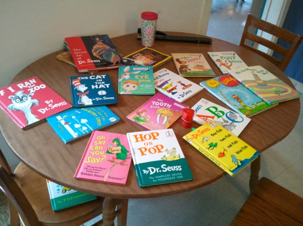 The books in the Junior classroom